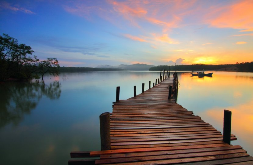 dock-at-sunset