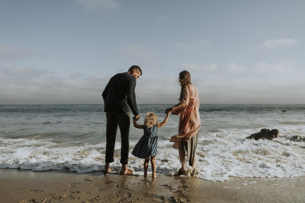 family-at-beach