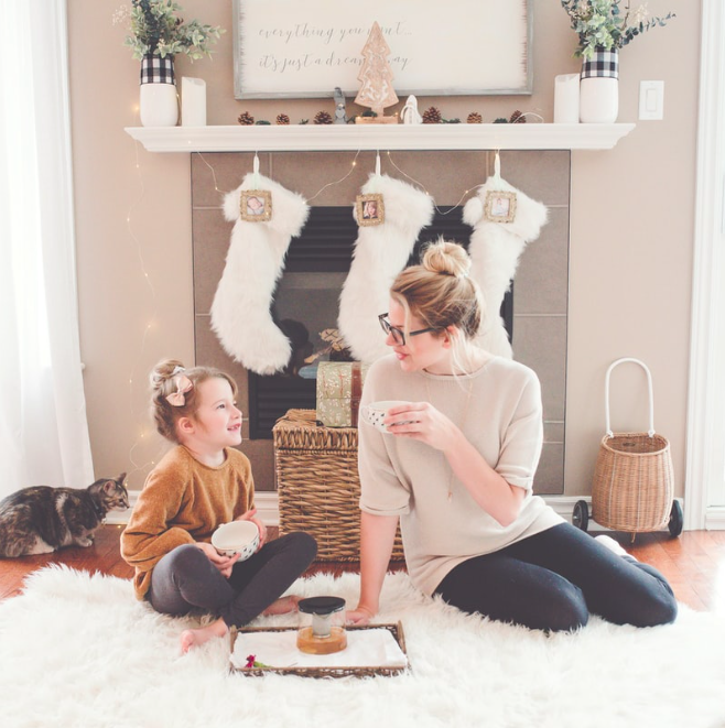 christmas-stockings-fireplace-mom-daughter